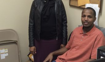 Hamida Dakune and Hukun  Abdullahi at their office in Moorhead. Photo by Marit Johnson.