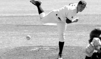 Senior Ross Merriman pitched first 6.2 innings against St. Thomas. Photo courtesy of Concordia Sports Information Office.
