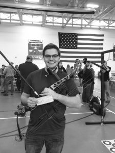 Wiger competed at The Vegas Shoot- the most prestigous archery competition in the United States. Submitted.