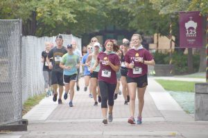 Students and community members run in the For the Kids 5k. Courtesy of Concordia Dance Marathon.