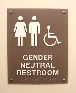 Gender Neutral restroom sign. Photo by Maddie Malat.