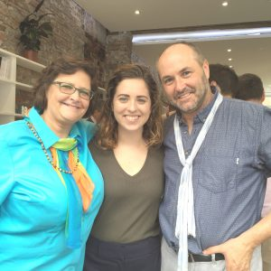 Submitted. From left to right: Dawn Duncan, Micaela Gerhardt and Colum Mc- Cann at the Narrative 4 summit this past summer in Ireland.