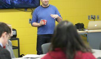 Jeff Knight teaching a graphic design course on Monday. Photo by Maddie Malat.