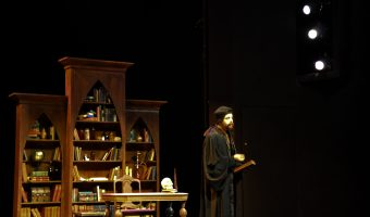 "Nicholas Schons plays the role of Dr. Faustus in ""Wittenberg."" Photo by Bailey Hovland."