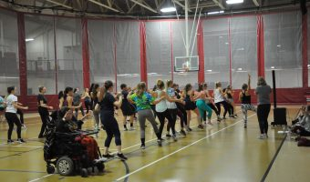 Lindsay Dusek makes fitness fun with Zumba