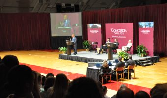 Congressman John Lewis speaks in Memorial Auditorium. Photo by Bailey Hovland.