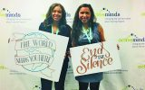 Mikayla Clements (left) and Natalie Rivera (right) attended Active Minds' national conference in Washington, D.C. this month.