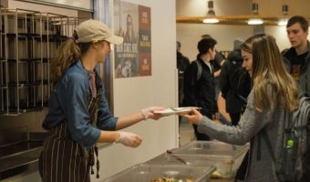 Taste Not Waste collected more than 50 pounds of plate waste during lunch on Wednesday, Jan. 24. Photo by Anna Knutson.