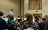 Elmer rehearses with the Concordia Orchestra. Photo by Dr. Kevin Sütterlin.
