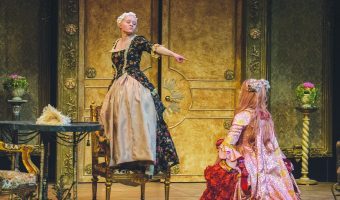 "Concordia's production of ""Tartuffe"" adheres to the period style of the 17th century play. Photo by Anna Knutson."