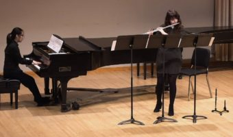 Junior Halie Weaving performs in a previous flute recital earlier this year. Photo courtesy of Halie Weaving.