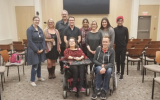 Speakers and attendees at Tuesday's disability awareness event. HALIE WEAVING.