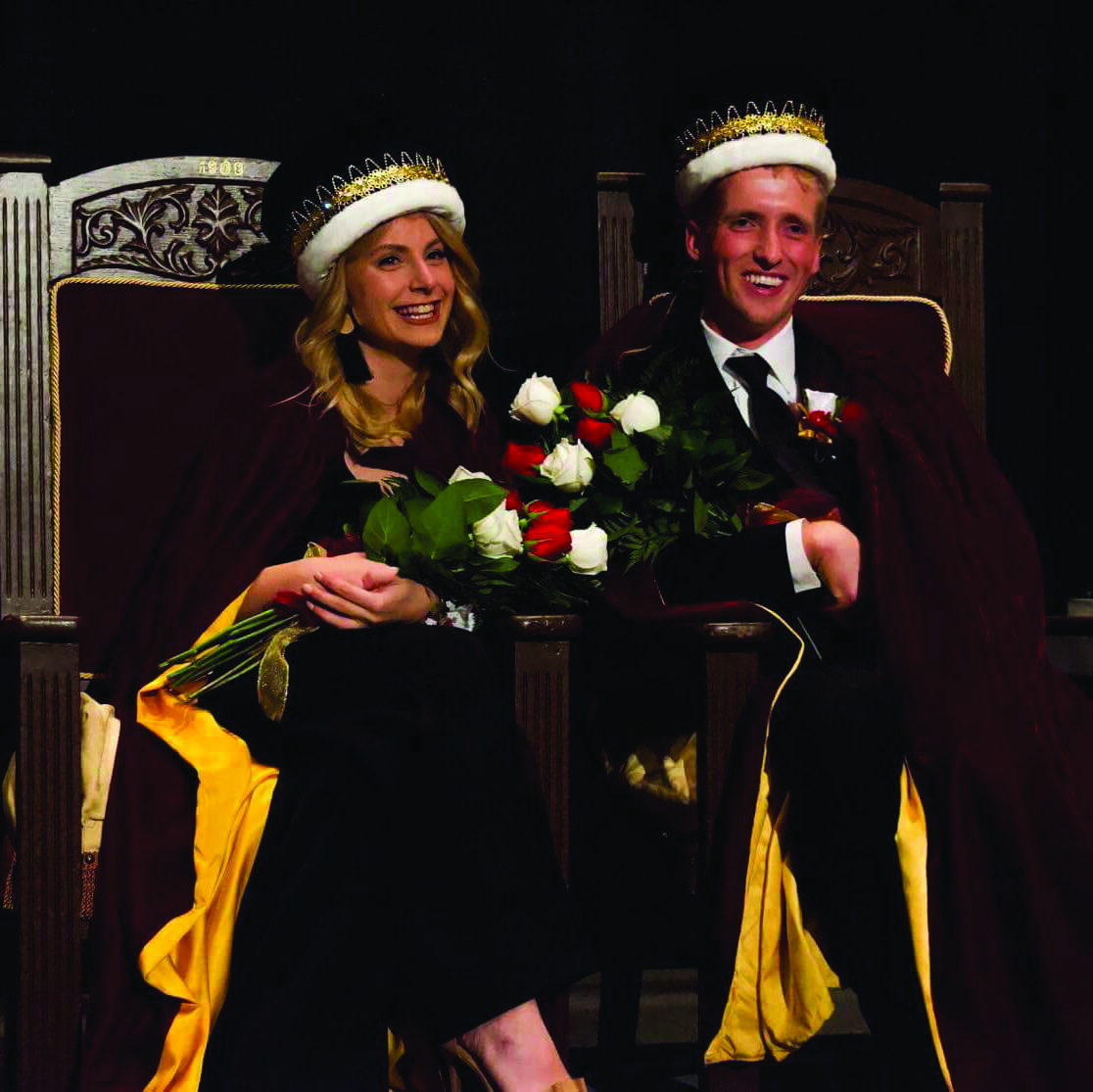 Homecoming week brings crowning of Herberg and Belz