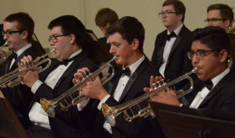 The three flagship ensembles performed in the Homecoming concert. CONCORDIA COLLEGE.