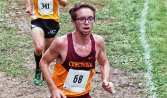 Junior Eric Wicklund led Concordia at the MSU Moorhead Twilight Meet for the second straight year. COBBERSID.